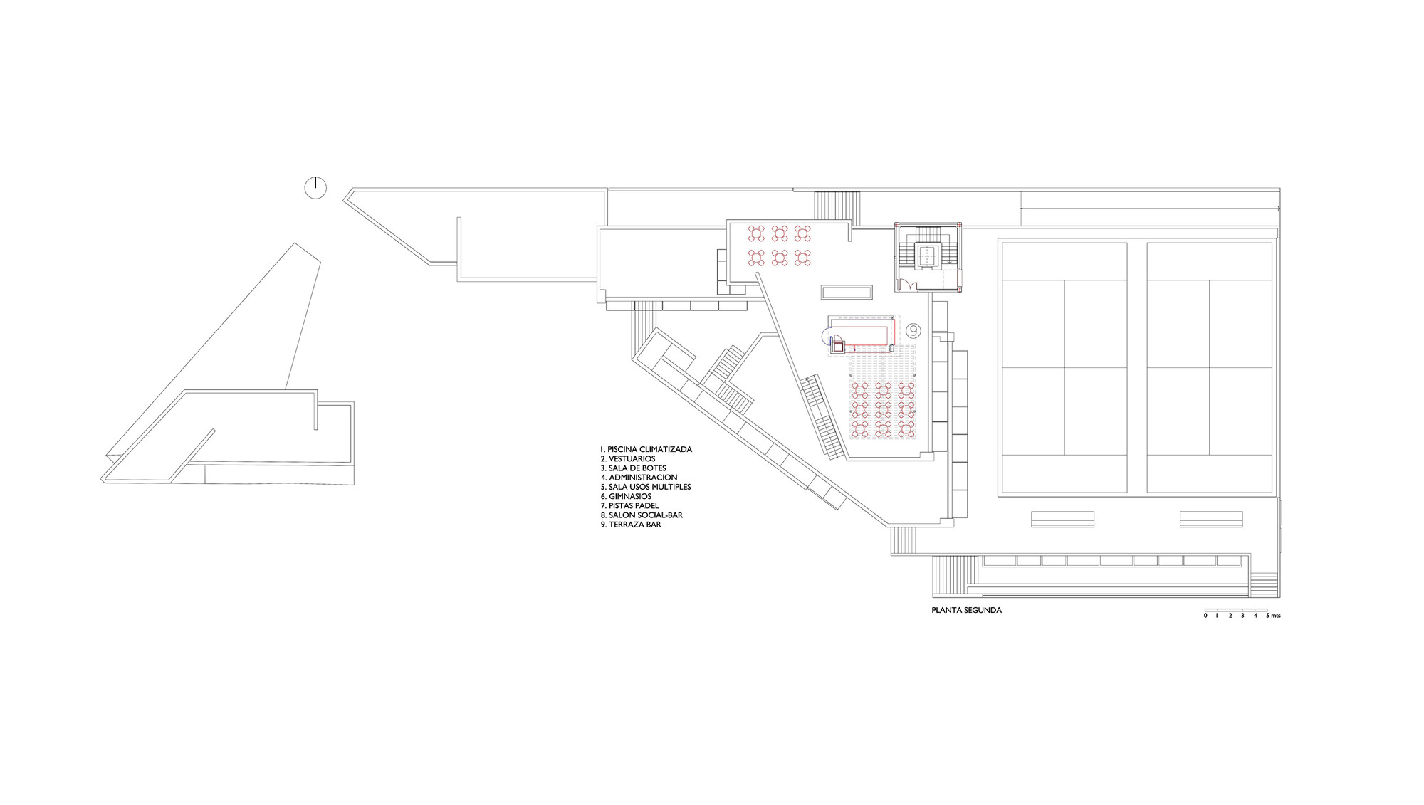 gallery of circulo mercantil industrial sports center manuel circulo mercantil industrial sports center second floor plan