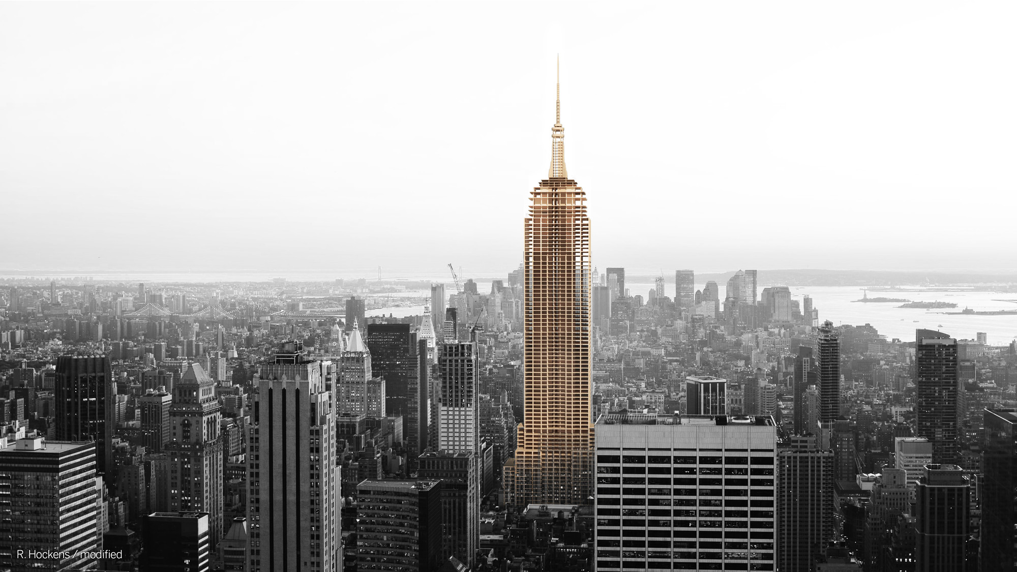 Could the empire state building have been built with wood for Builders first