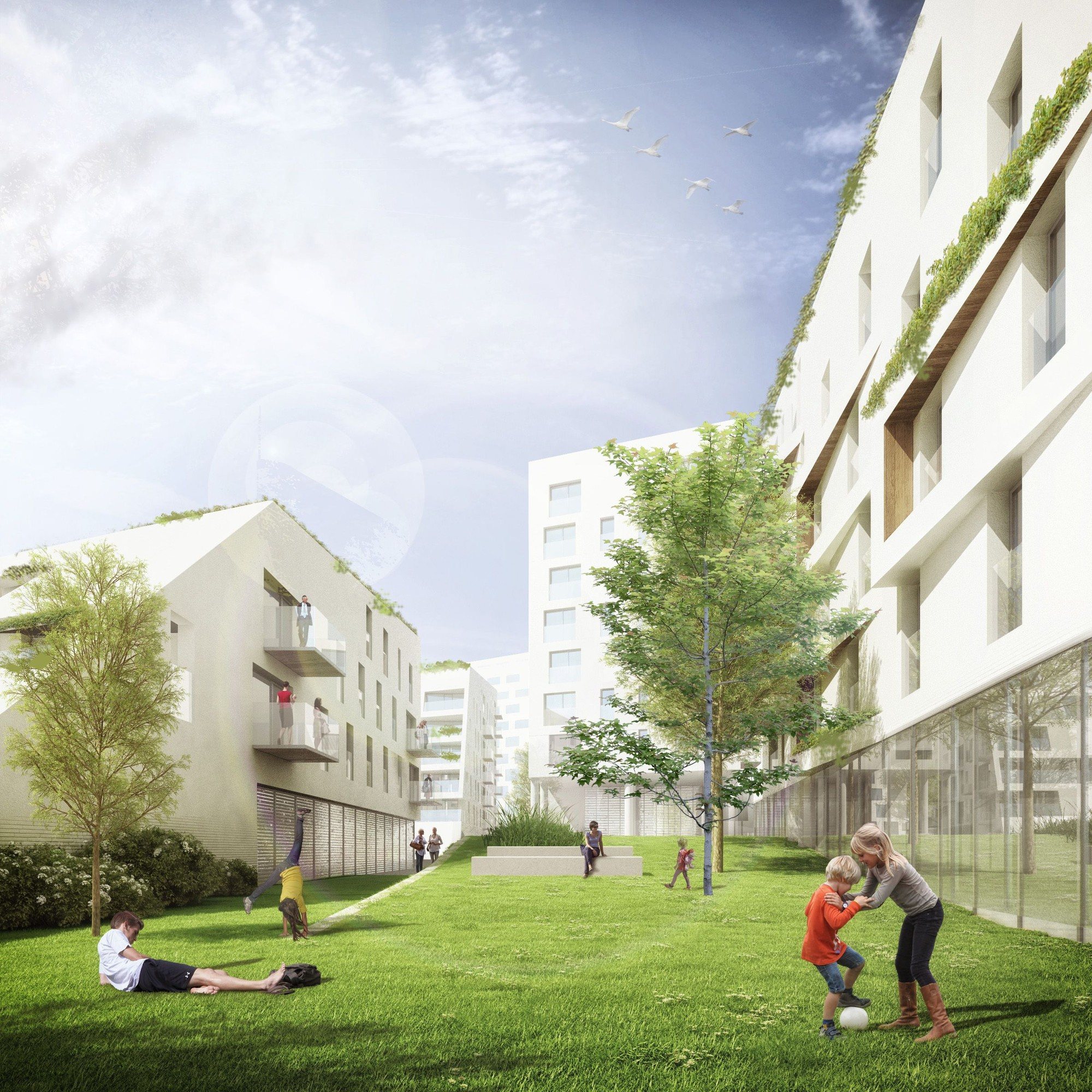 Áreas verdes urbanas. Imagen cortesía de A2M
