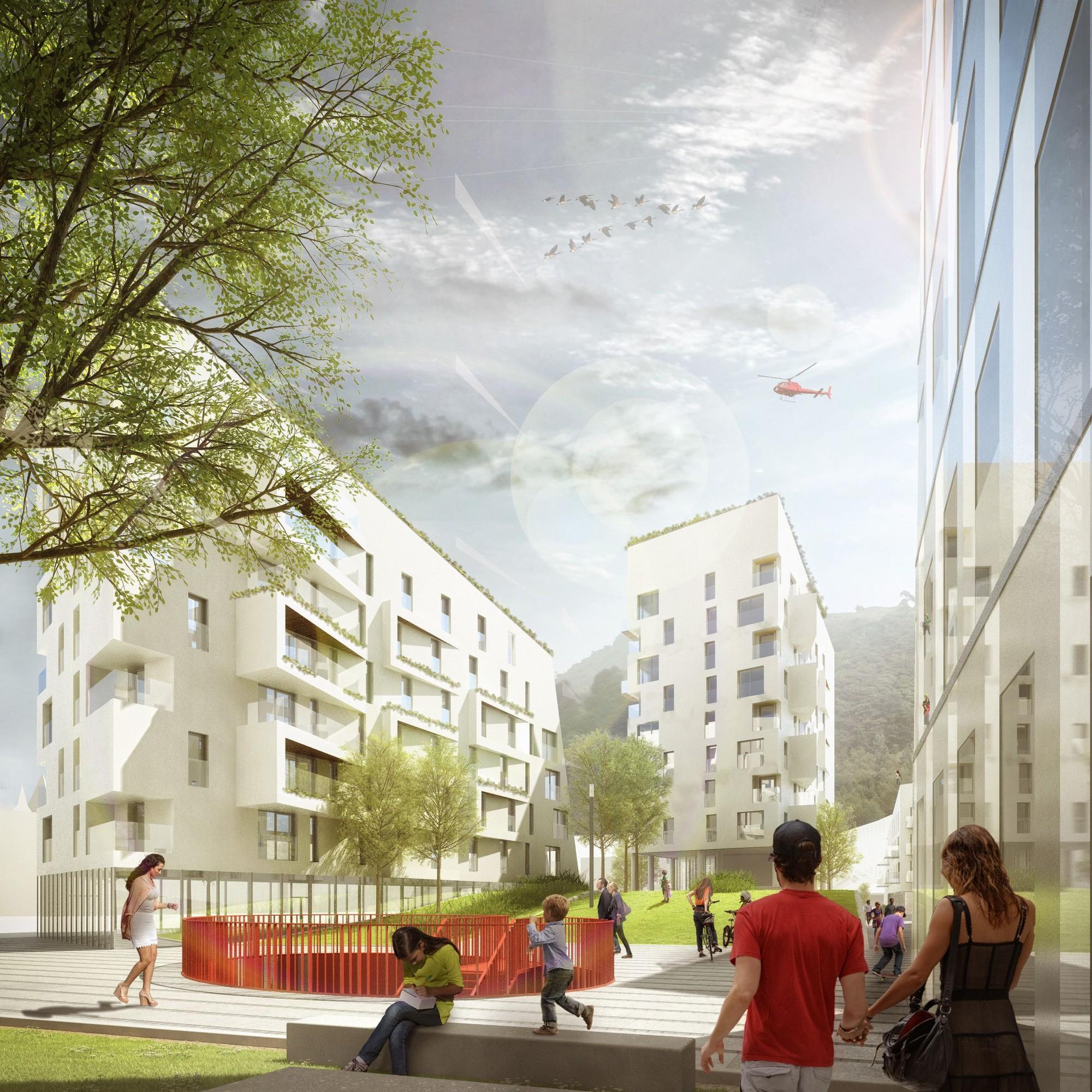 Plaza pública. Imagen cortesía de A2M