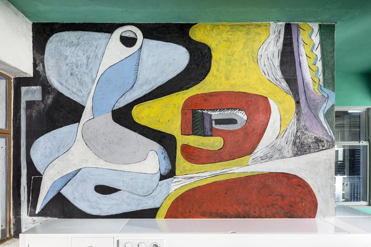 "Villa E-1027 – ""La chambre d'amis""; mural por Le Corbusier. Imagen © Manuel Bougot - FLC/ADAGP"