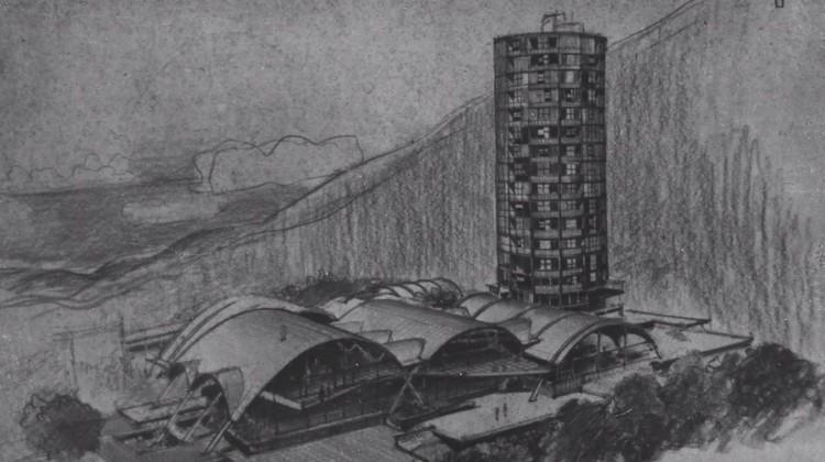 Dibujo del diseño final, Sanabria. Image Cortesía de Colección Tomás José Sanabria. Fundación Privada de Compromiso Urbano, Fundación Alberto Vollmer