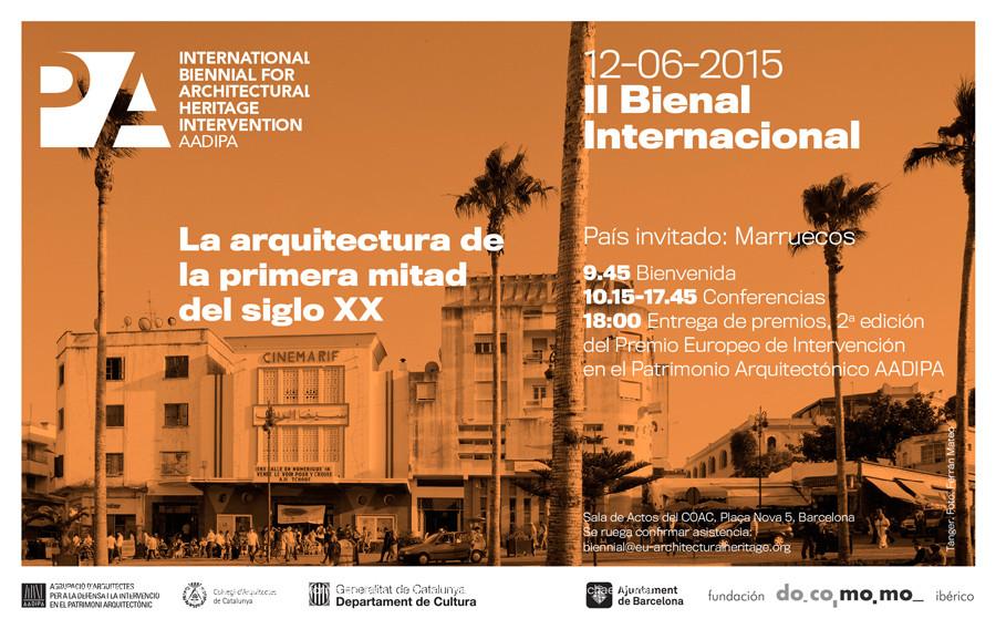 II Bienal Internacional AADIPA: La arquitectura de la primera mitad del siglo XX / Barcelona