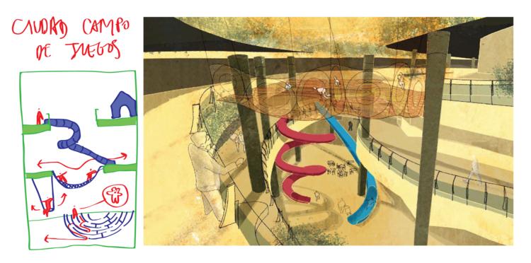 Edifício para experimentar e descubrir.. Image © Ecosistema Urbano