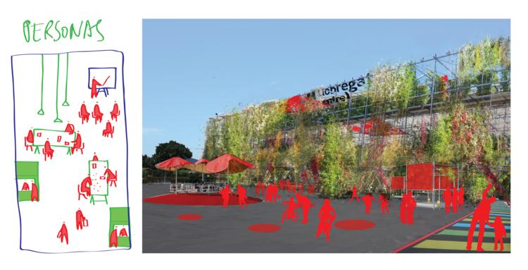 Espaços que induzen a criar novas conexões e gerar iniciativas. Image © Ecosistema Urbano