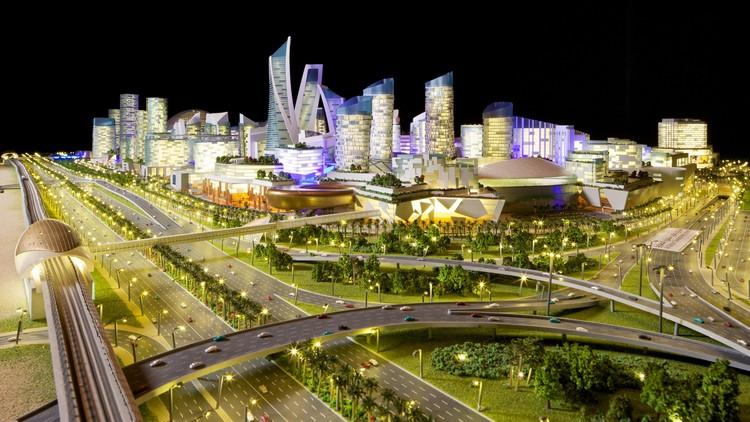 """""""Mall of the World"""", centro comercial actualmente en construcción en Dubái. Image Cortesía de Dubai Holding"""