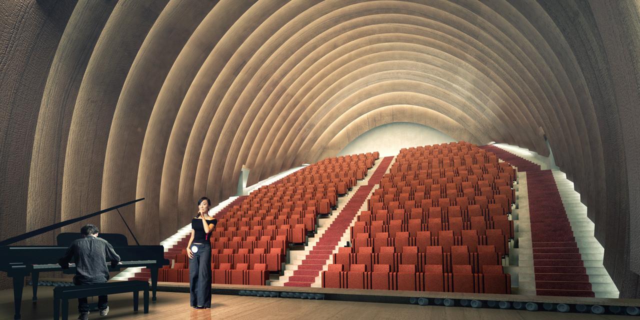 Sala de música. Imagen cortesía de +imgs