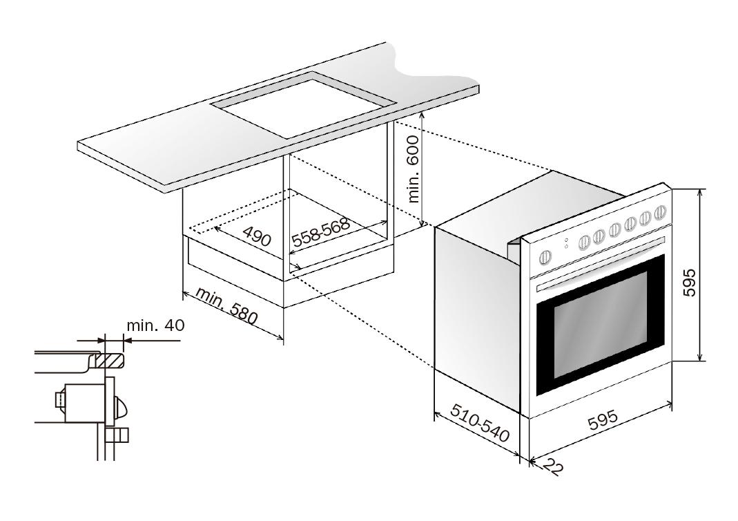 Materiales hornos empotrables tipos e instalaci n for Medidas de hornos pequenos
