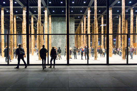David Chipperfield - Sticks and Stones, an Intervention at the Neue Nationalgalerie. Image © Laurian Ghinitoiu