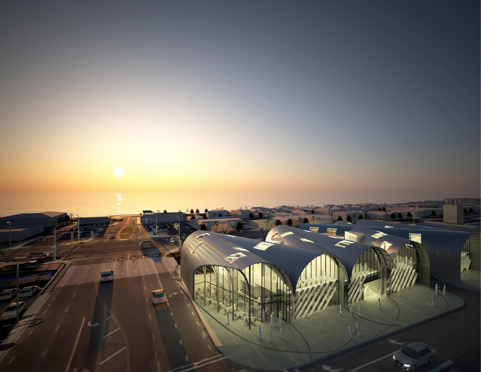 Competition Entry: AECOM Proposes Transport Center for Solana Beach, Courtesy of AECOM LA Design Studio