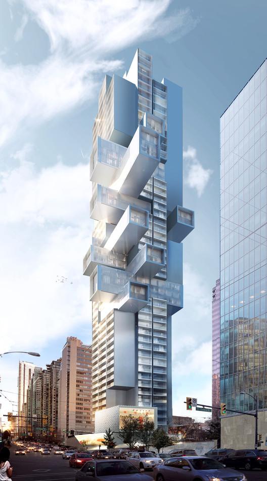 Büro Ole Scheeren plantea el futuro de la vivienda vertical en nuevo rascacielos de Vancouver, © Büro Ole Scheeren