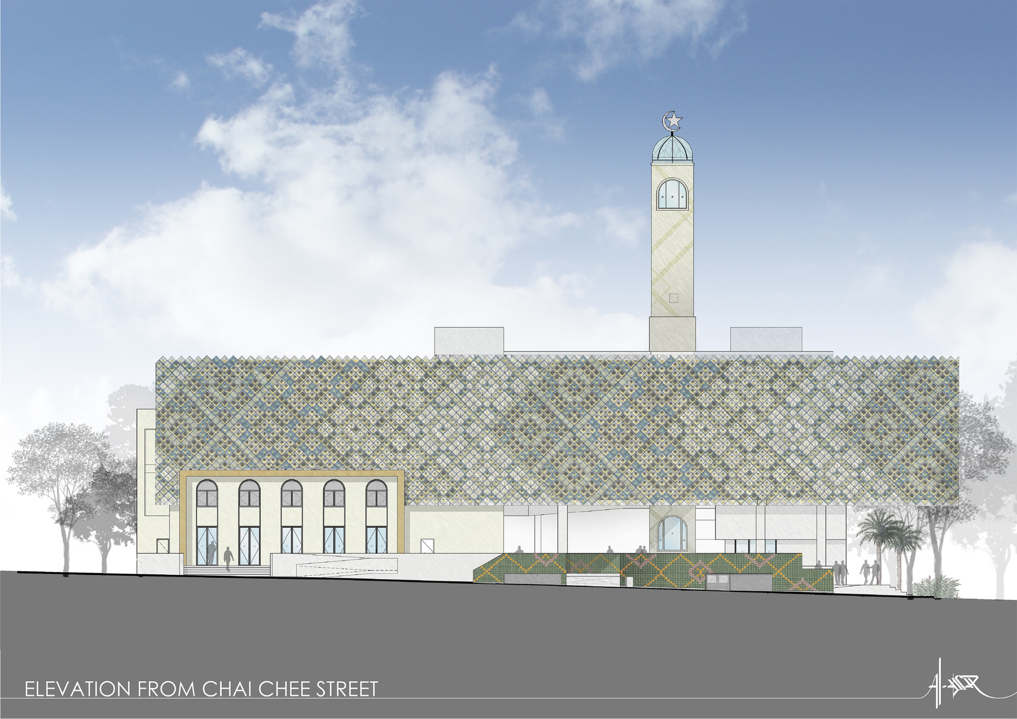 Plan Elevation Section Of Mosque : Mosque elevation joy studio design gallery best