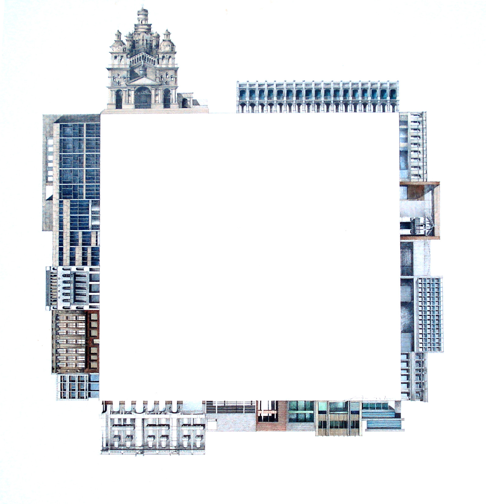 Dibujos de Viajes por el arquitecto argentino Ian Dutari , Cortesia de Ian Dutari