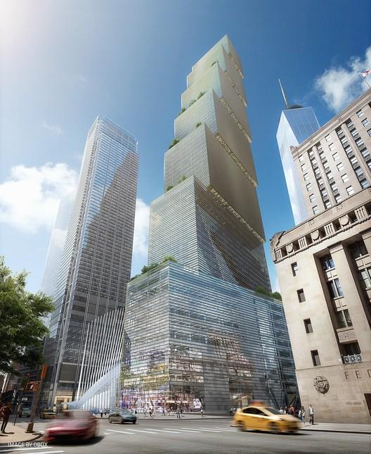 Bjarke Ingels Talks About Two World Trade Center, © DBOX, Courtesy of BIG