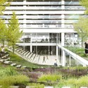 One of the design's rooftop gardens. Image © DBOX, Courtesy of BIG