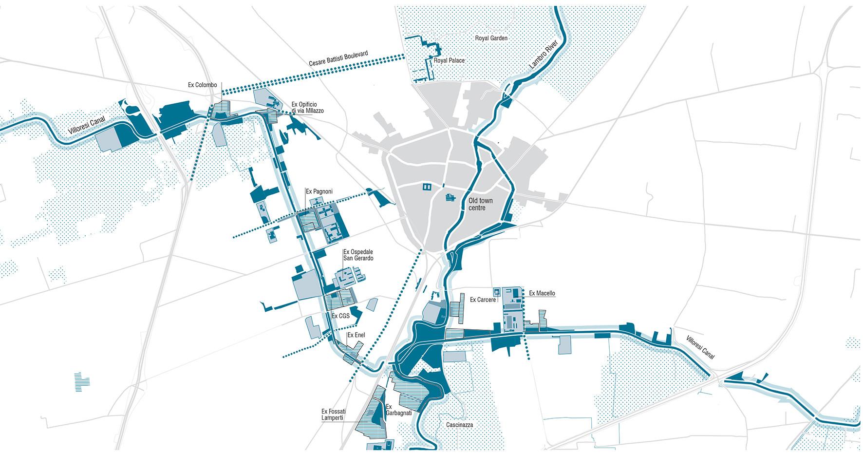 Masterplan para la ciudad de Monza / Ubistudio. Image © Roland Halbe