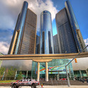 Renaissance Centre, a previous attempt to revitalise Detroit. Image © Flickr user paul bica