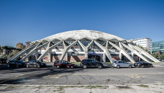 Palazzetto dello sport. Image © <a href='https://www.flickr.com/photos/lulek/11420370036'>Flickr user lulek</a> licensed under <a href='https://creativecommons.org/licenses/by-nc/2.0/'>CC BY-NC 2.0</a>