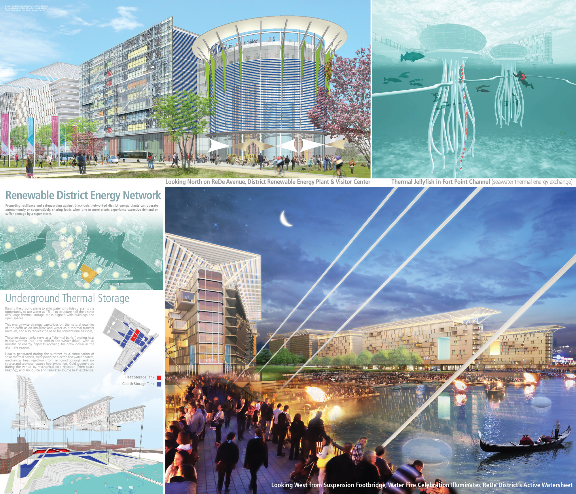 Winners of Boston Living with Water Competition Announced, ReDeBOSTON 2100; Architerra. Image Courtesy of Boston Living with Water