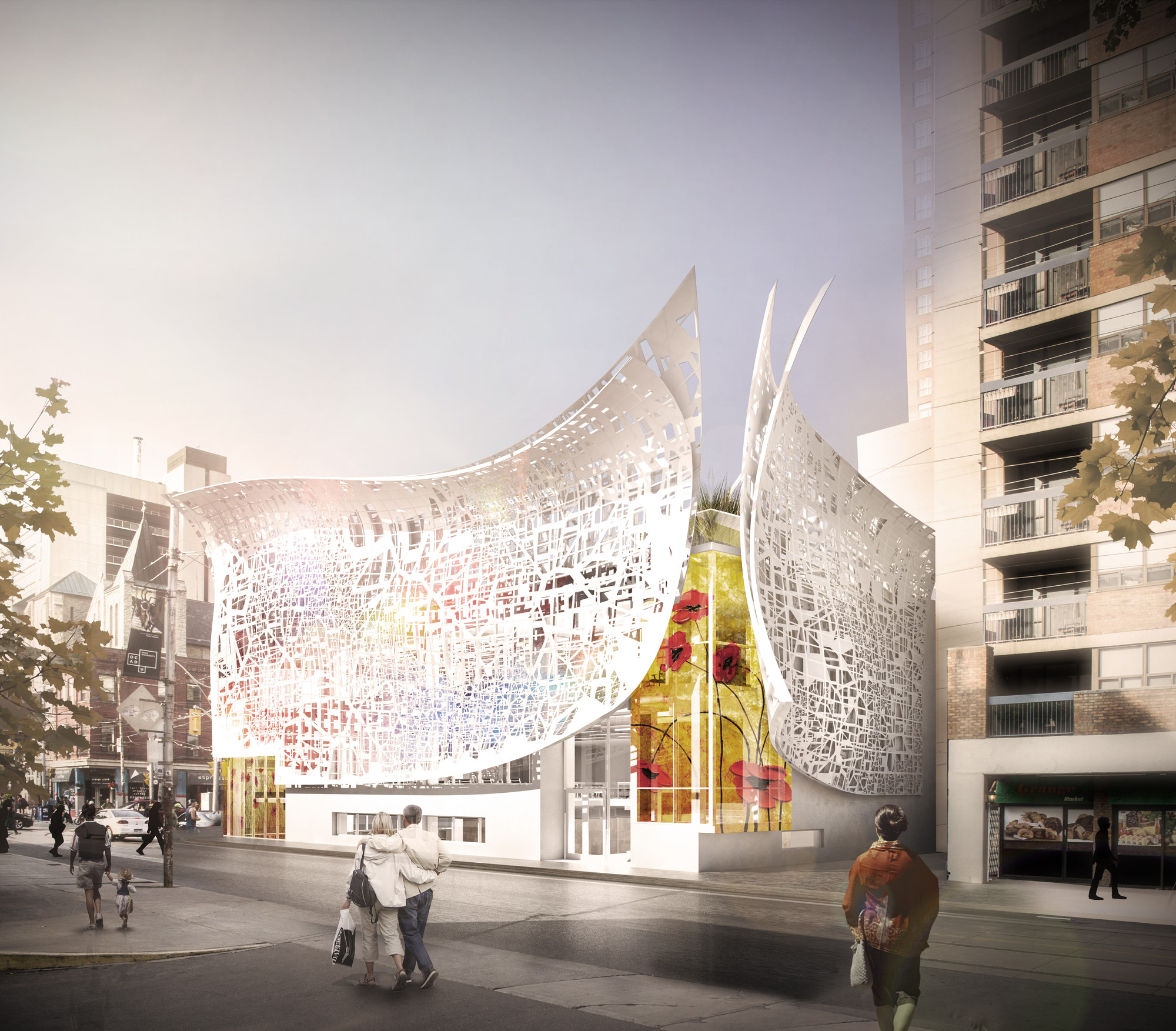 Bortolotto Unveils Design for Rosalie Sharp Pavilion in Toronto, Exterior View. Image Courtesy of Bortolotto
