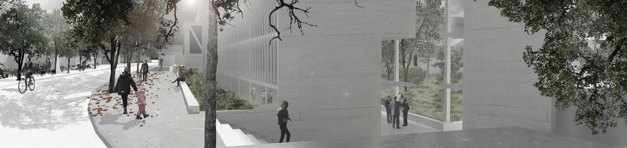 Plazuela El Comendador. Image Cortesia de Baixas & del Río Arquitectos