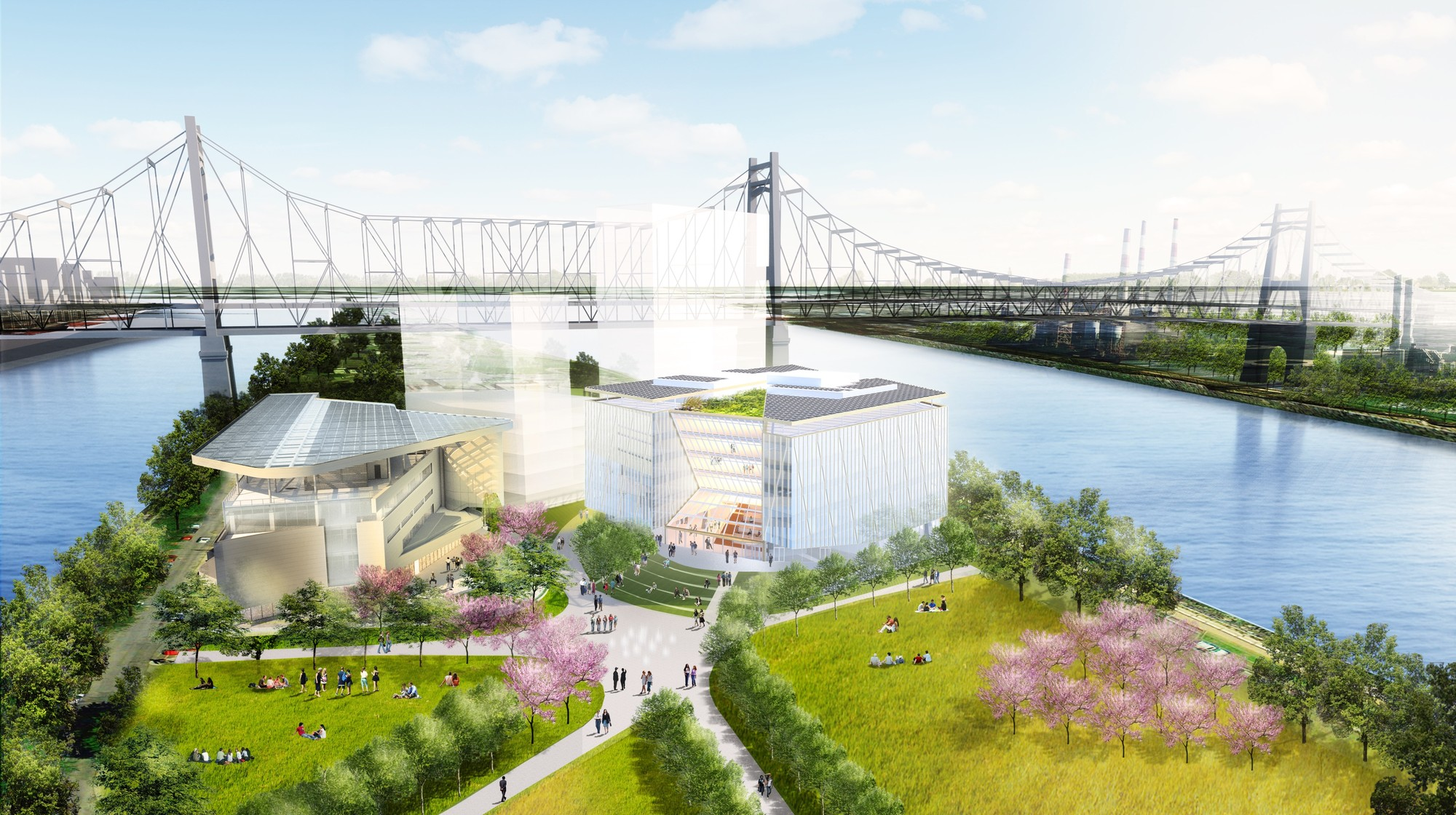 "WEISS/MANFREDI Break Ground on ""The Bridge"" at Cornell Tech's Roosevelt Island Campus, Cornell Tech Phase 1. Image © WEISS/MANFREDI"