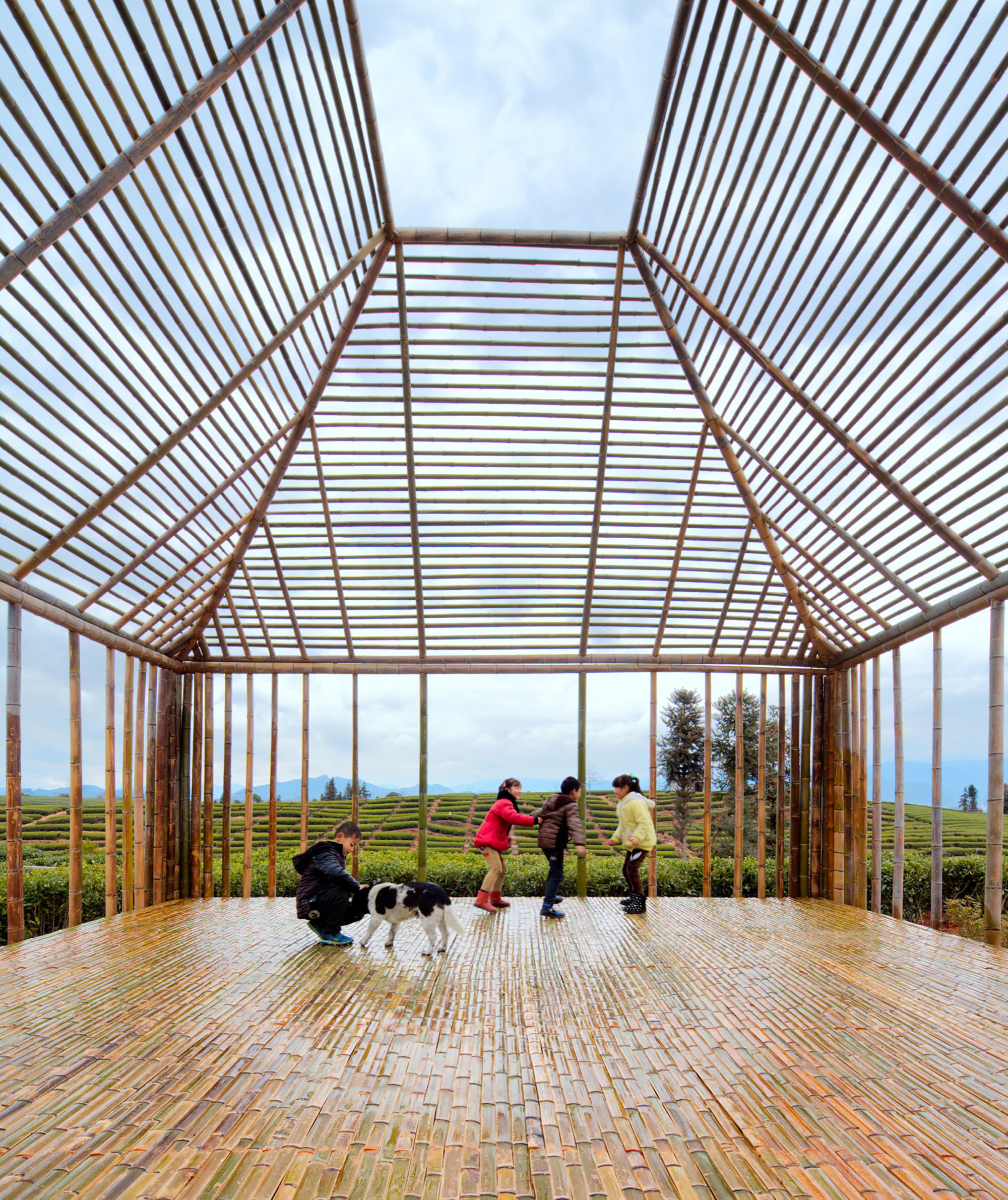 Bamboo Pavilion Dna Design And Architecture Archdaily