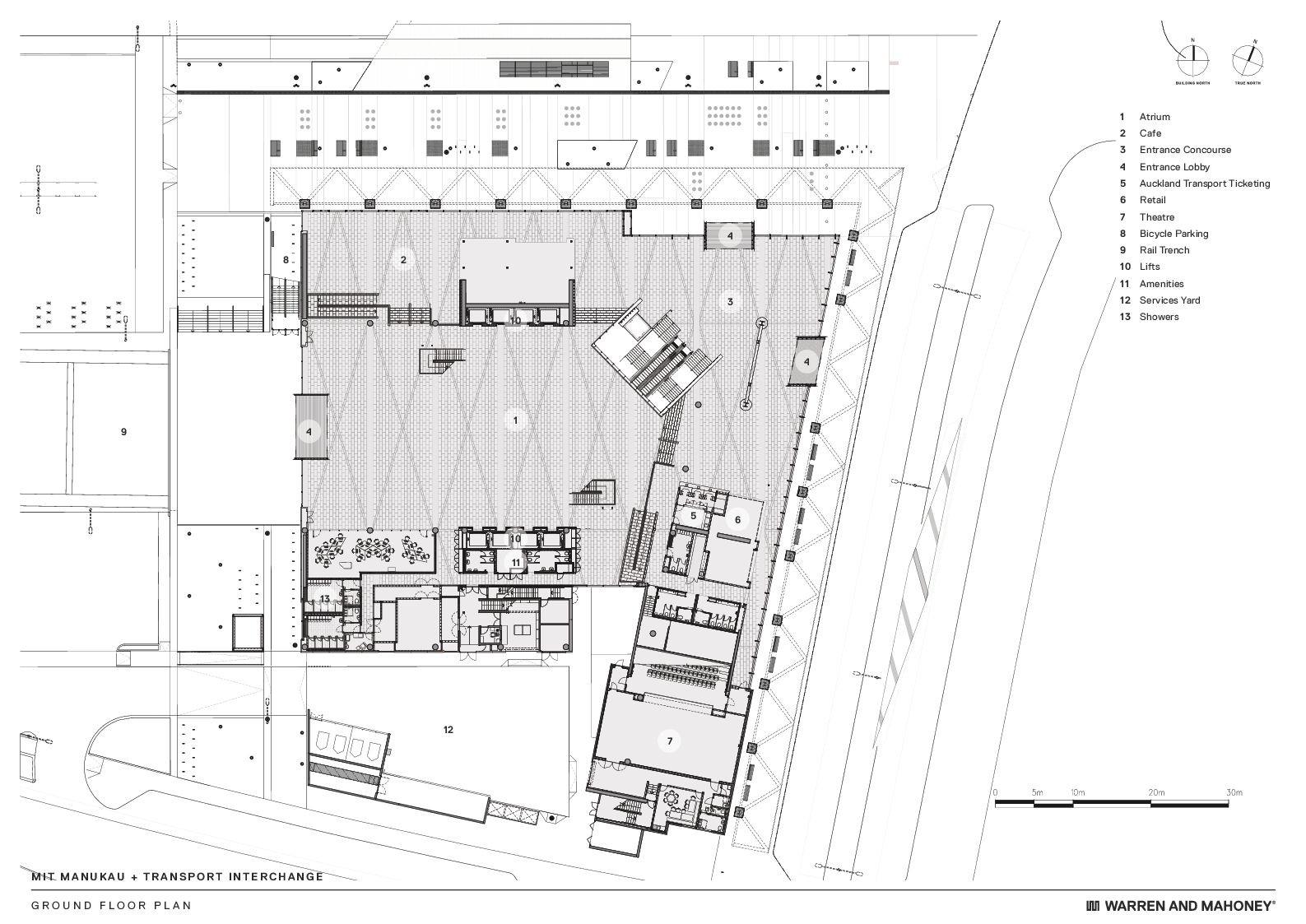 Ferry Terminal Floor Plan Gallery Of Mit Manukau Amp Transport Interchange Warren