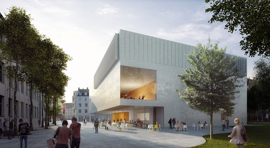 HPP Selected to Redesign Cologne's University of Music and Dance, Courtyard. Image © HPP Architects