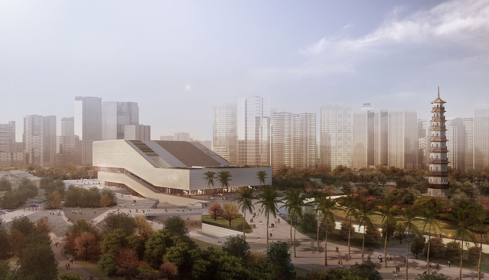 gmp Architekten Wins Competition to Design Guangzhou City Museum, © gmp Architekten