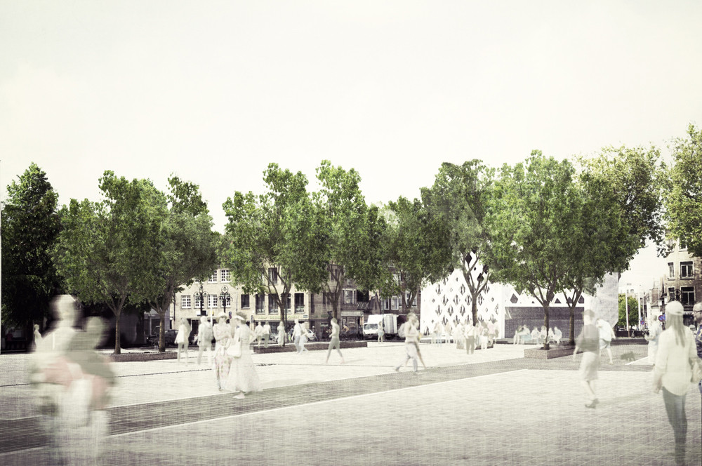 West 8 and Snoeck Win Competition to Redesign Het Zand Square in Bruges, © West 8