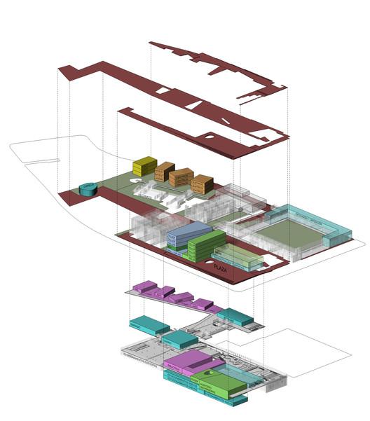 Lyon Bosch Arquitectos + Bresciani + Martic, tercer lugar en concurso de plan maestro Campus Lo Contador, Despiece. Image Cortesia de Equipo Tercer Lugar