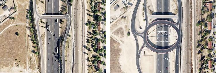 Autopista A6, pk 24, Madrid / 2007 - 2011. Image Cortesía de Nación Rotonda