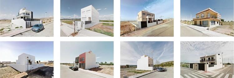 Localizaciones varias de la Comunidad Valenciana y Murcia, mosaico de chalets / 2007 - 2013. Image Cortesía de Nación Rotonda