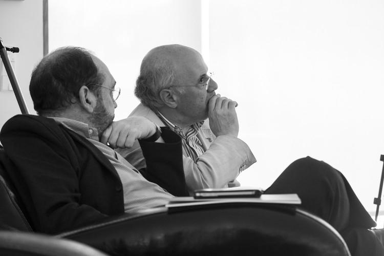 Francisco Mangado y José Manuel Pozo. Image © Juan Rodríguez