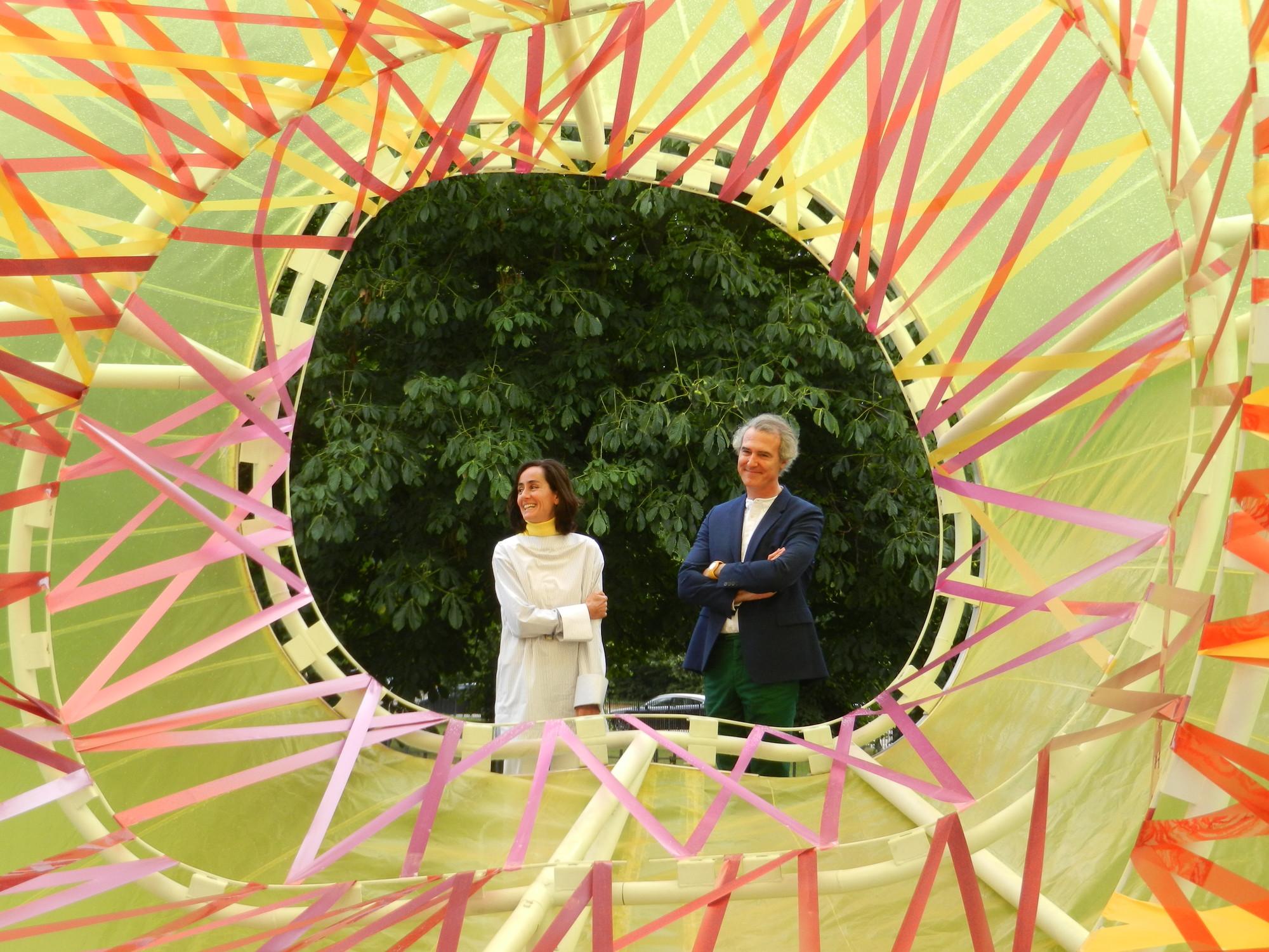 Se inaugura el pabellón Serpentine Gallery 2015 diseñado por SelgasCano, © Daniel Portilla