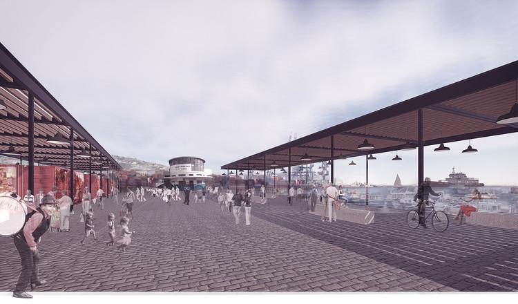 Mathias Klotz gana Concurso Público para Viaducto Acceso Sur y Muelle Prat en Valparaíso, Primer Lugar / Mathias Klotz Germain (Arquitecto Titular). Image Cortesía de EPV