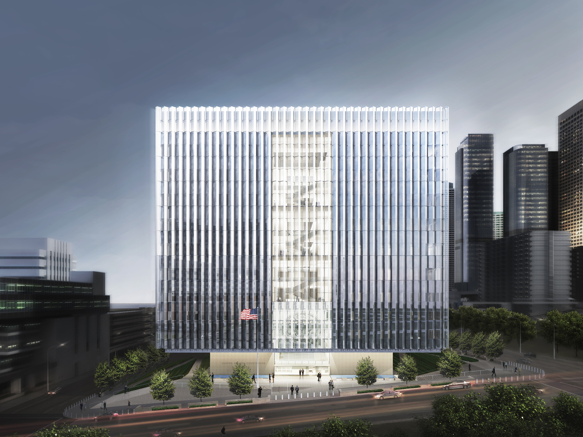 New United States Courthouse. Image © Skidmore, Owings & Merrill LLP