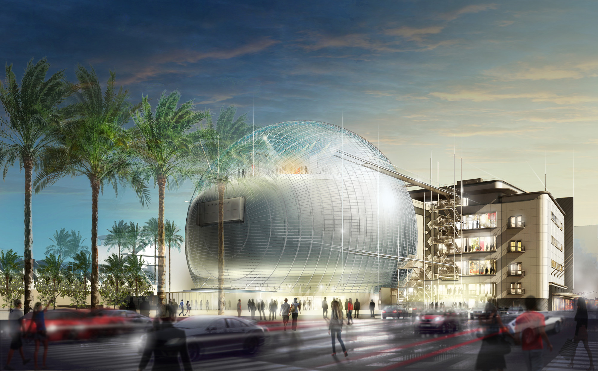 Academy Museum of Motion Pictures. Image © Renzo Piano Building Workshop / © A.M.P.A.S.