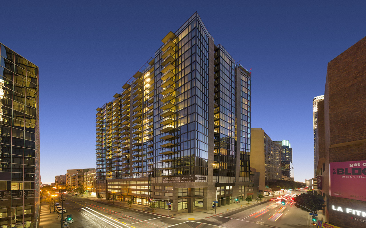 8th and Hope Residential Tower. Image Courtesy of The Preston Partnership