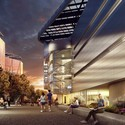 Bloomberg Center exterior rendering. Image © Cornell University / Kilograph