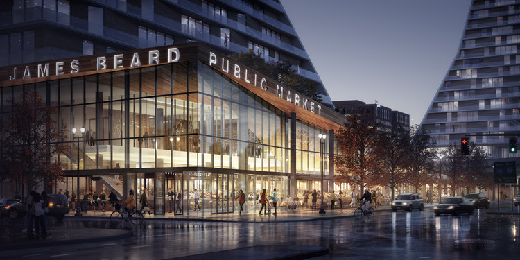 Snøhetta Designs New Public Market for Portland, © Snøhetta