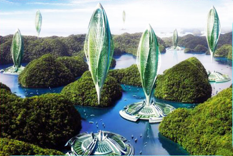 """Could Hovering Buildings be the Future of Sustainability?, Proposals such as Vincent Callebaut's """"Hydrogenase"""" have always been science fiction as much as they are architecture - but with Arx Pax's MFA technology, is it time to think more carefully about how to design levitating buildings?. Image Courtesy of Vincent Callebaut Architectures"""