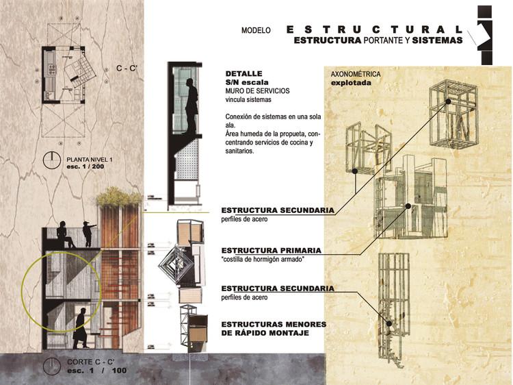 Vivienda Social, ganador segundo año. Image Cortesia de Arquitectura Caliente