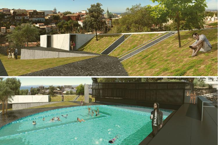 Balneario Público Cerro Cárcel, gran ganador tercer año. Image Cortesia de Arquitectura Caliente