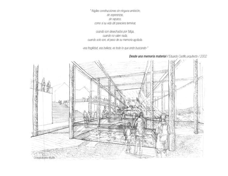 Muelle del Vestigio Fluvial, gran ganador tercer año. Image Cortesia de Arquitectura Caliente