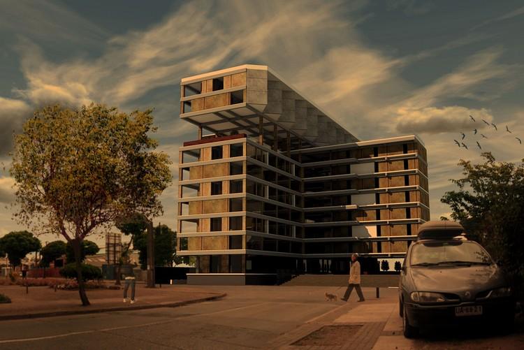 Edificio en altura media, ganador cuarto año. Image Cortesia de Arquitectura Caliente