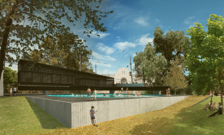 CNPP 2015: conoce los proyectos premiados en la categoría Tercer Año, Balneario Público Cerro Cárcel, gran ganador tercer año. Image Cortesia de Arquitectura Caliente