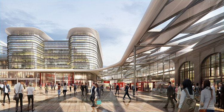 Foster + Partners Win Competition to Design Cardiff Interchange, © Foster + Partners