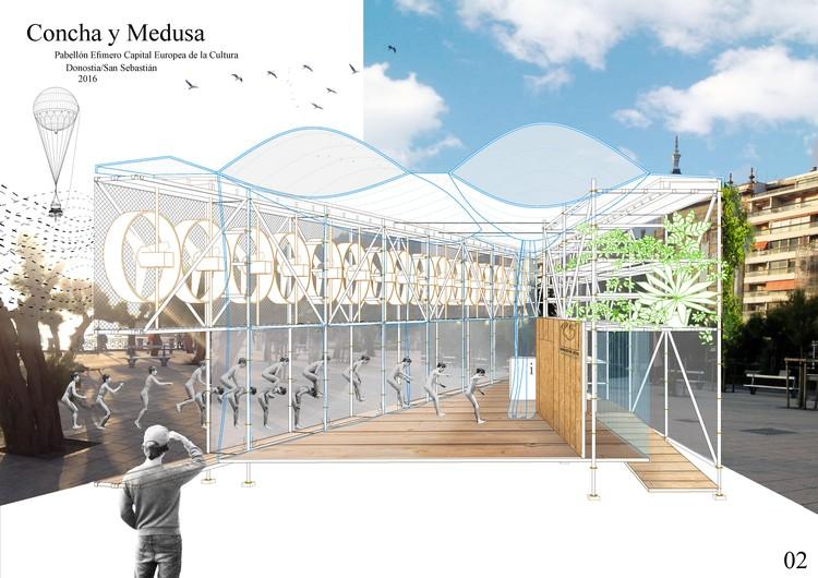 Propuesta 'Concha y Medusa'. Image Cortesia de DSS2016EU